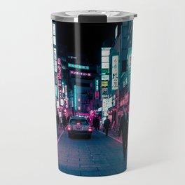 Shimmering Neon Lights of Tokyo Travel Mug