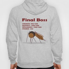 Final Boss - Red Letters Hoody
