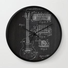 Guitar Patent Wall Clock