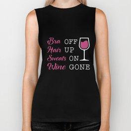 bra hair sweats wine t-shirts Biker Tank