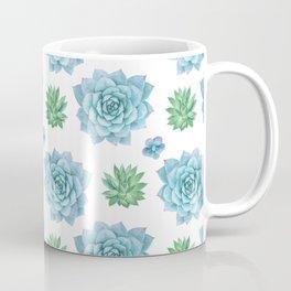 Watercolor handpainted echeveria pattern Coffee Mug