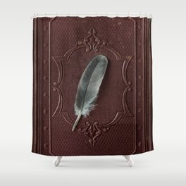 The lost feather Shower Curtain
