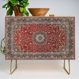 N63 - Red Heritage Oriental Traditional Moroccan Style Artwork Credenza