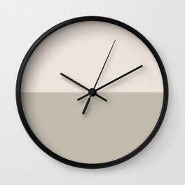 Half-and-Half in Khaki and Cream Wall Clock