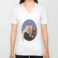 luna lovegood V-neck T-shirts featuring luna lovegood by Sara Meseguer