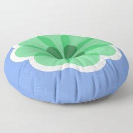 Purple and green geometric flower Floor Pillow