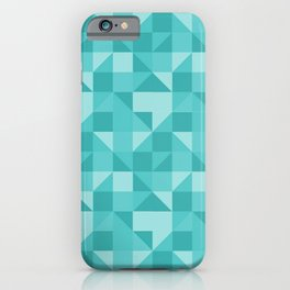 beautiful green geometric figures in the shape of modern triangles iPhone Case