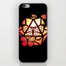 Burning Butterfly Lantern  iPhone Skin