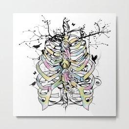 Skeleton of a human thorax Metal Print