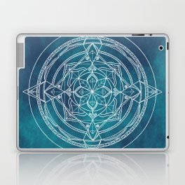 White Mandala - Dusky Blue/Turquoise Laptop & iPad Skin