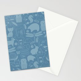 Russian Woodland Animal Print Stationery Cards