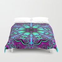 mandela Duvet Covers featuring The blooming mandela by thea walstra
