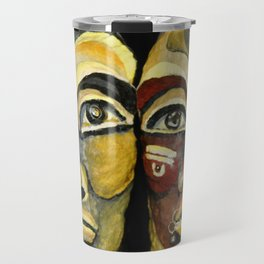 Tribal design portrait Travel Mug