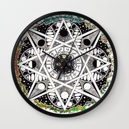 Wheel Of The Year Wall Clock