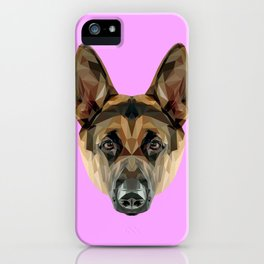 German Shepherd // Lilac iPhone Case