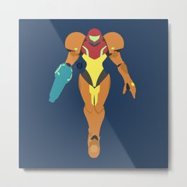 Armored Bounty Huntress Metal Print