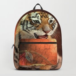 Cute little tiger baby Backpack