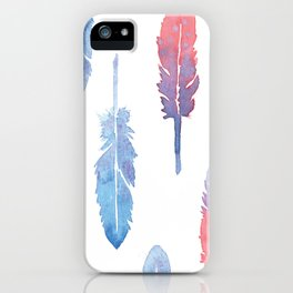 Feather forest iPhone Case
