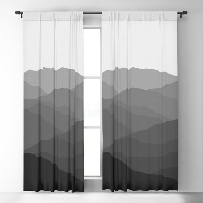 Shades of Grey Mountains Blackout Curtain