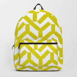 Yellow Geometry Pattern Backpack