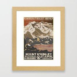 National Parks 2050: Denali Framed Art Print
