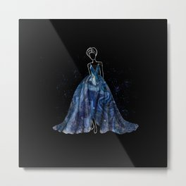 Evening Gown Fashion Illustration #4 Metal Print