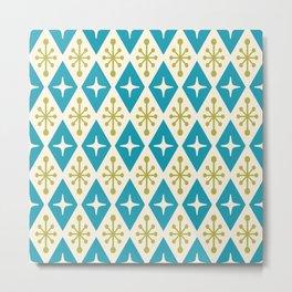 Mid Century Modern Atomic Triangle Pattern 108 Metal Print