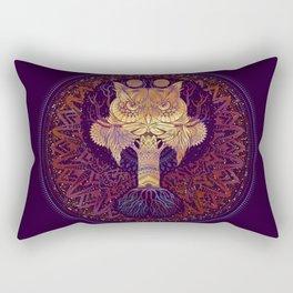 Owl Mandala Rectangular Pillow