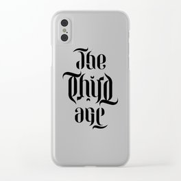 The Third Age (ambigram) Clear iPhone Case