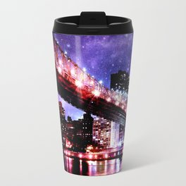 Majestic New York City: Manhattan Bridge Travel Mug