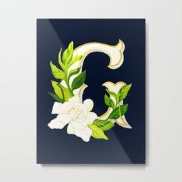 G is for Gardenia Metal Print