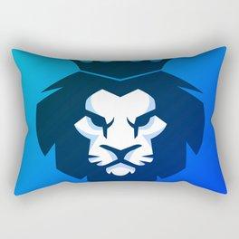 Lion Blue Shade Rectangular Pillow