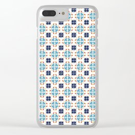Talavera Floral Tiles Pattern Clear iPhone Case