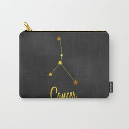 Cancer Zodiac Constellation in Gold Carry-All Pouch