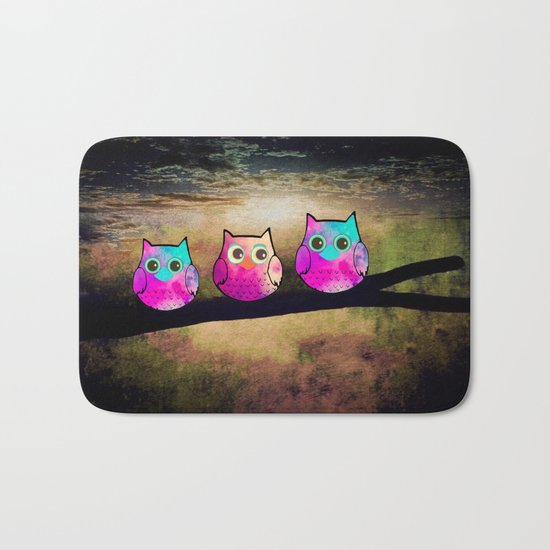 owl-1 Bath Mat