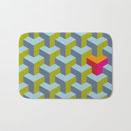 Be yourself - geomtric op art pattern Bath Mat