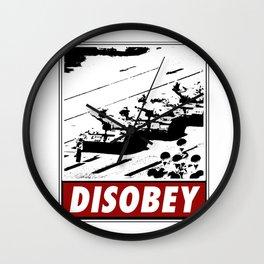 Tank Man- Disobey Wall Clock