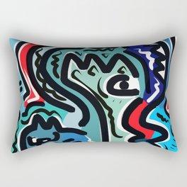 Life Energy Pop Art Graffiti Abstract Design Rectangular Pillow