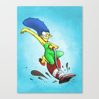 simpson Canvas Prints featuring Marge Simpson by Joe McGro