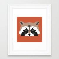 rocket racoon Framed Art Prints featuring rocket racoon by Robert Parkinson