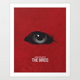 The Birds Movie Poster Art Print