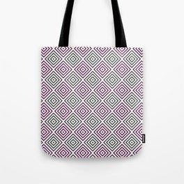 Burgundy, gray and white diamond rhombus pattern Tote Bag