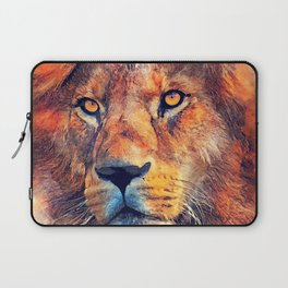 Lion art #lion #animals Laptop Sleeve