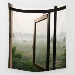 God opens a window Wall Tapestry