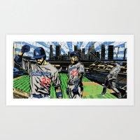 "dodgers Art Prints featuring ""Matt Kemp LA !"" ( @ArtMobb ) Mike Farhat ( @Califawnia ) by Mike Farhat Art Mobb"