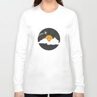 records Long Sleeve T-shirts featuring Sunburst Records by Dianne Delahunty