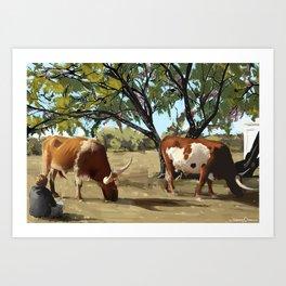 Diablo and Ranchero Art Print