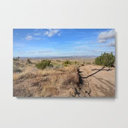 Clouds and Shadows Cast in the California Desert Metal Print