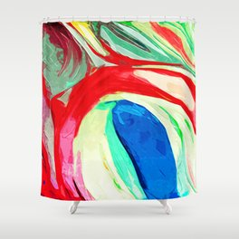 Abstract Lily Shower Curtain
