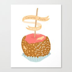 Caramel Apple om nom nom Canvas Print